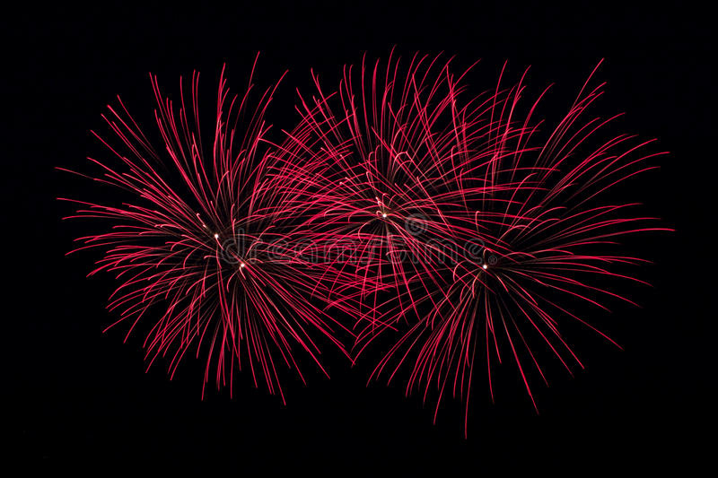 Red Fireworks Free Stock Photo: Red Fireworks Stock Images