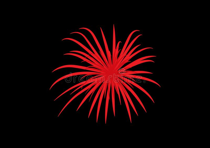 Red fireworks clipart design illustrated for artwork. Red fireworks clipart illustrated for artwork use or for backgrounds vector illustration