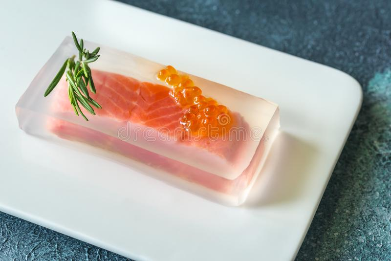 Red fish in aspic royalty free stock image