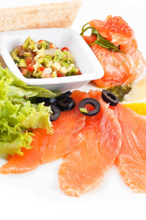 Download Red fish and caviar stock image. Image of salmon, seafood - 25939725