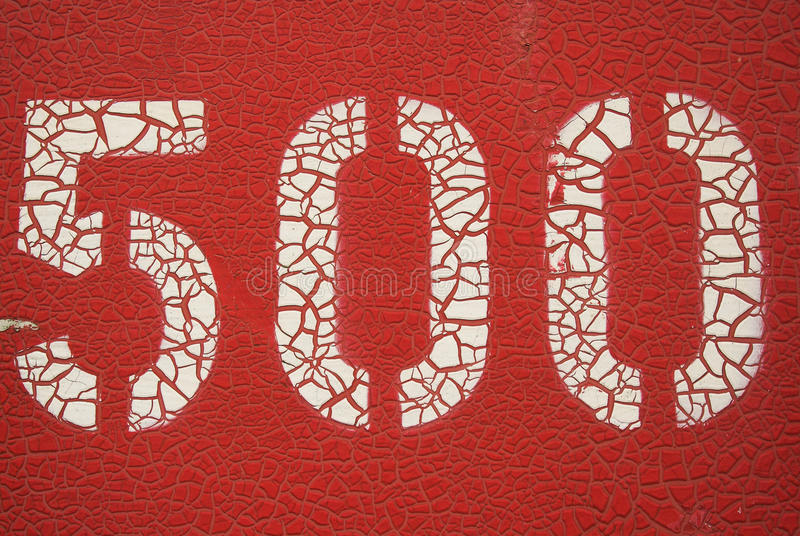 Red five hundred royalty free stock photos