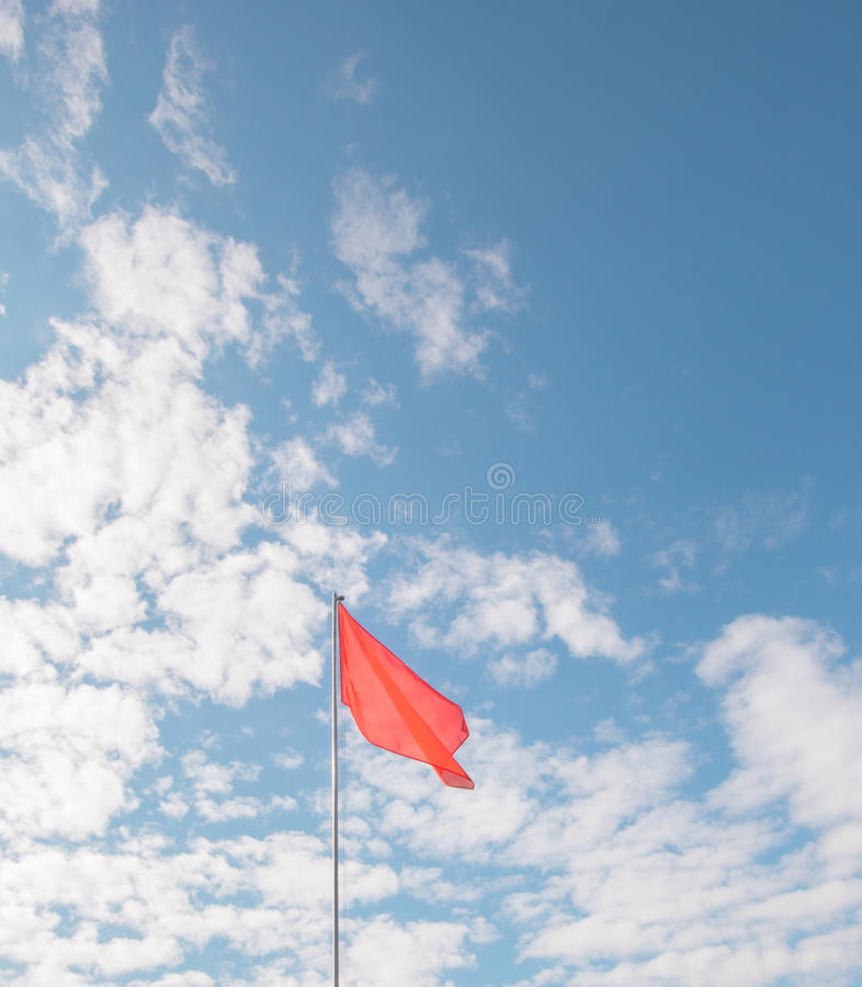 Red flag royalty free stock photo