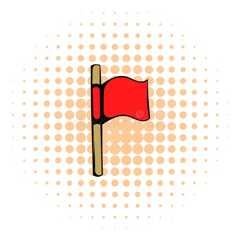 Waving Start Flag, Red Field Stock Vector - Illustration of concept