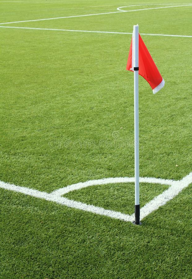 Download Red Flag On The Soccer Field Stock Images - Image: 15952854