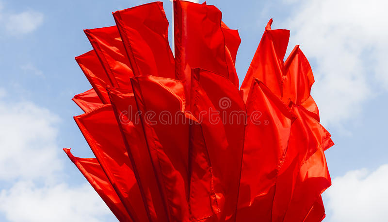 Red flags royalty free stock photo