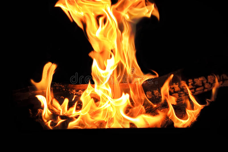 Red flame on the black background. Image with red flame on the black background royalty free stock photography