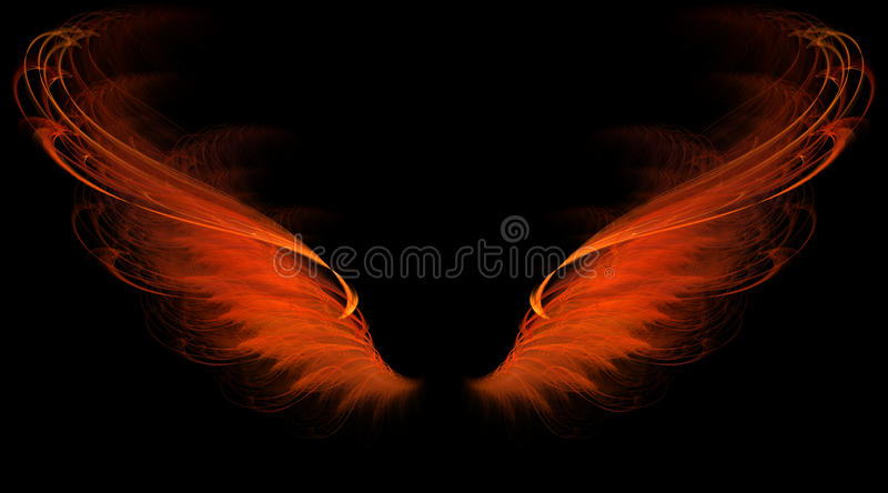 Red flame wings royalty free illustration