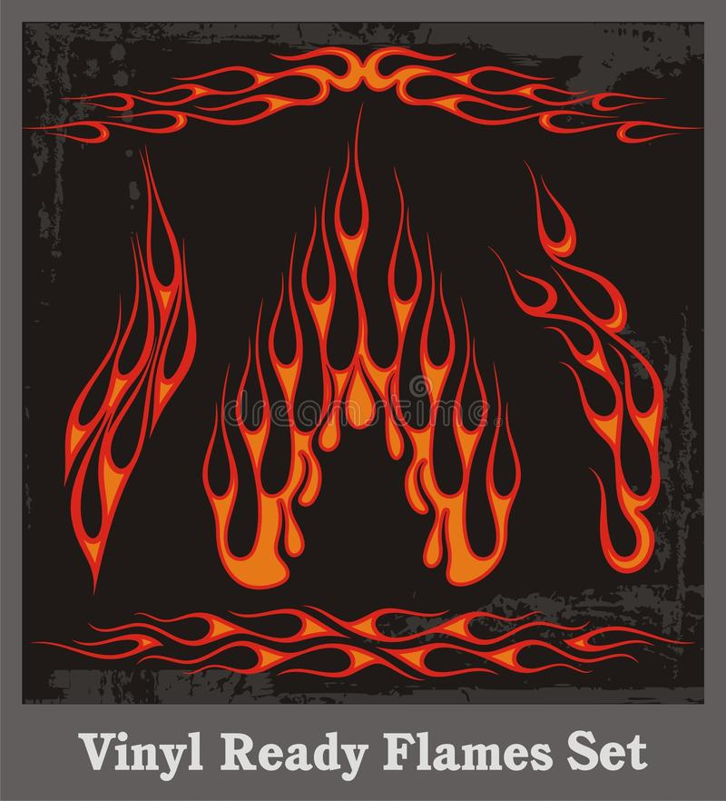 Free Red Flames Set Royalty Free Stock Image - 20165536