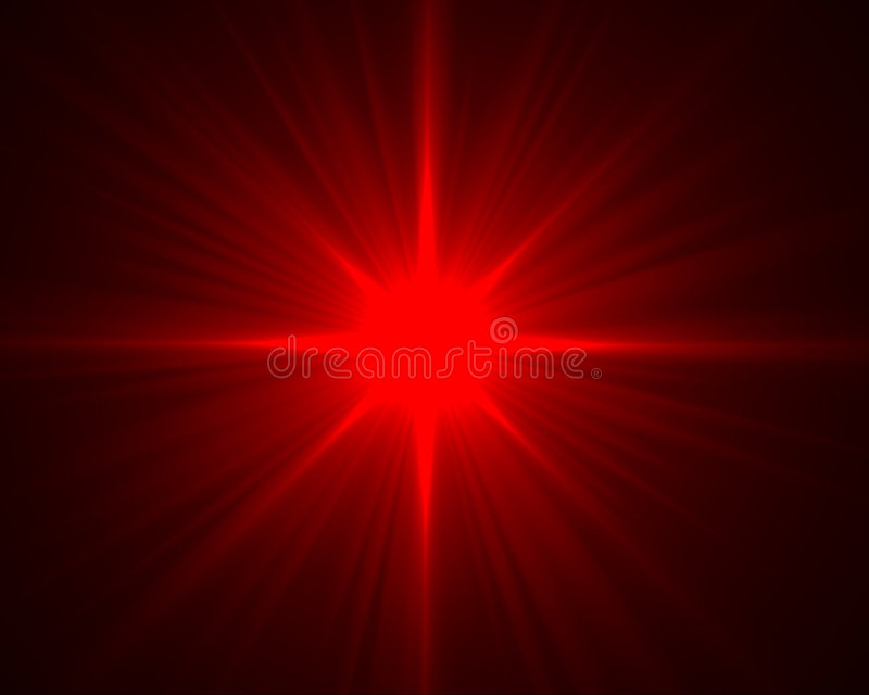 Red flare vector illustration