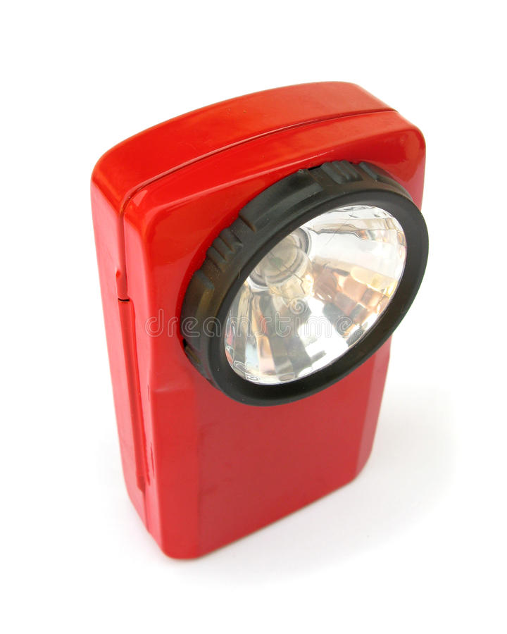 Download Red Flashlight Royalty Free Stock Image - Image: 10453336