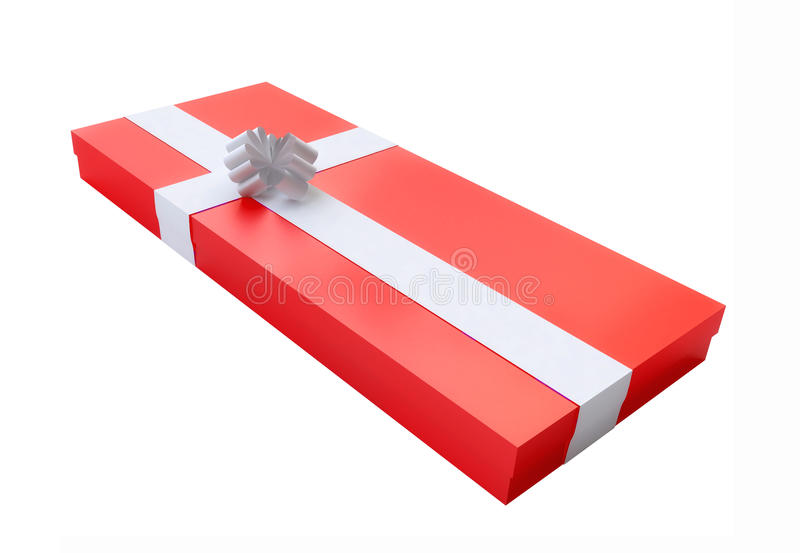Red Flat Gift Box. From My Gift Boxes Collection royalty free illustration