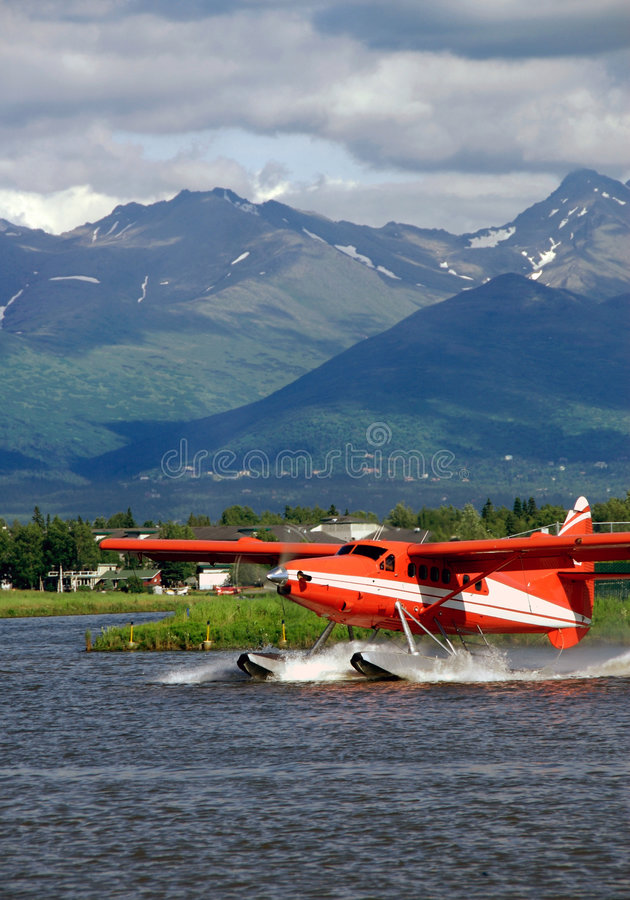 Red Floatplane Royalty Free Stock Photography