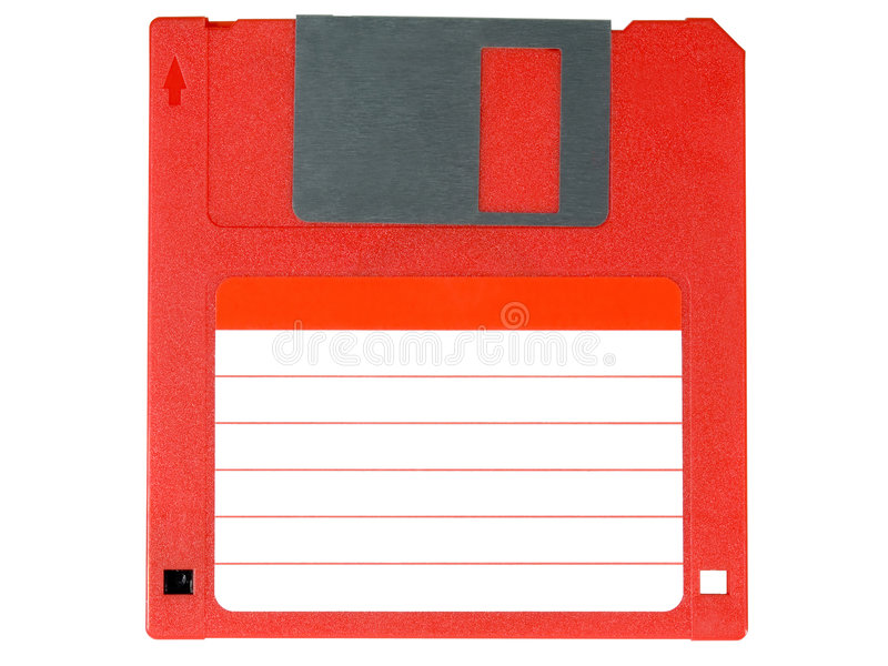 Red floppy disk royalty free illustration