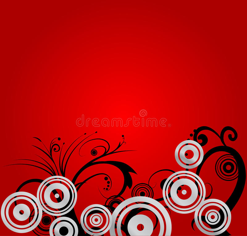 Red floral Background royalty free illustration