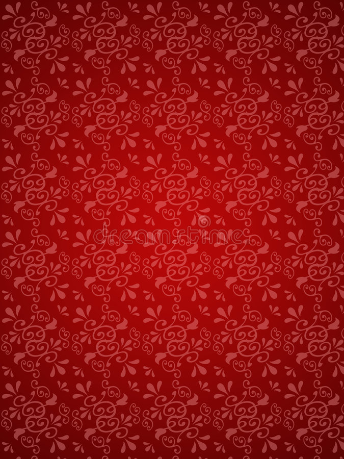 Download Red floral background stock illustration. Illustration of fabric - 2476730