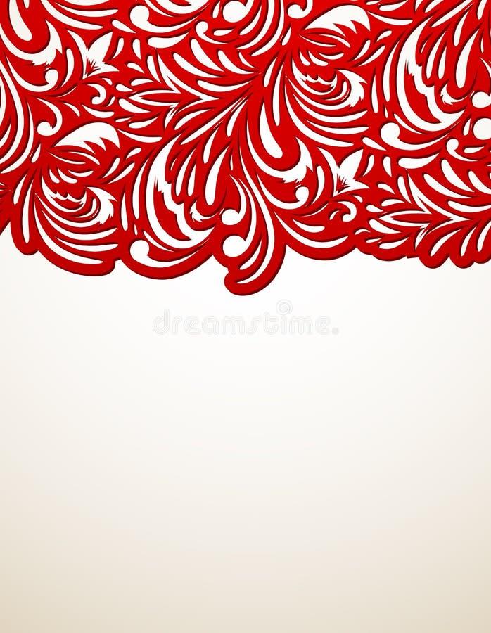 Download Red floral background stock vector. Illustration of element - 28637188