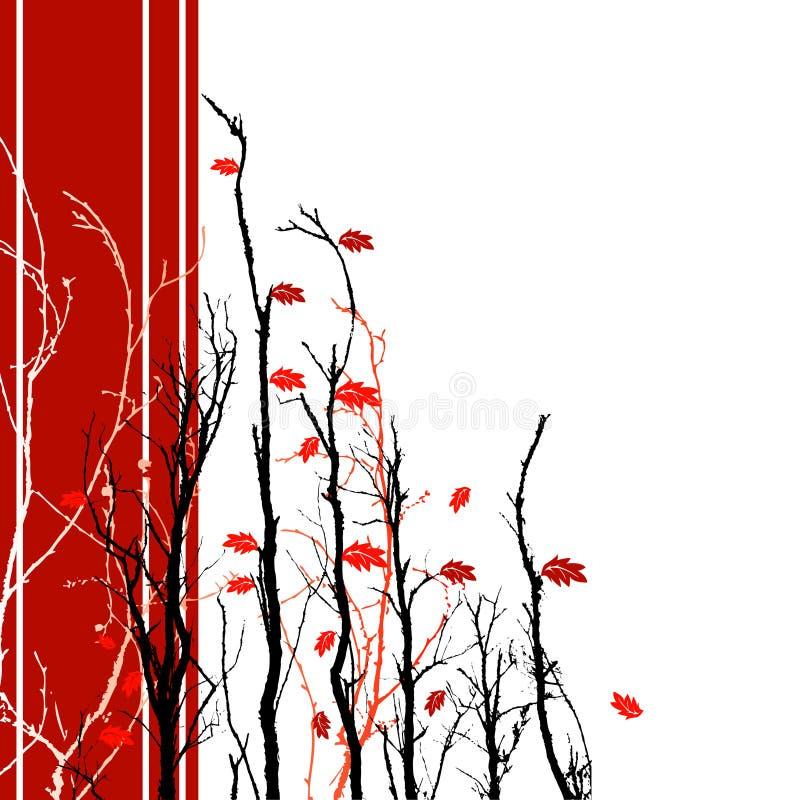 Red Floral Background stock illustration
