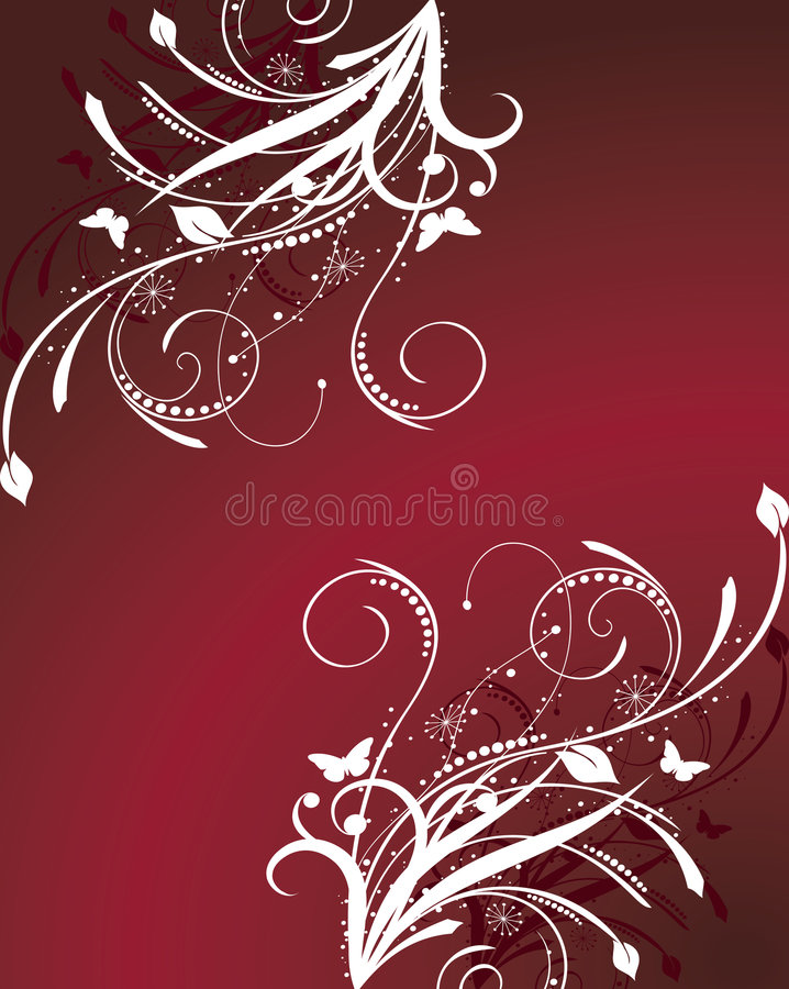 Download Red floral background stock vector. Illustration of beautiful - 8136596
