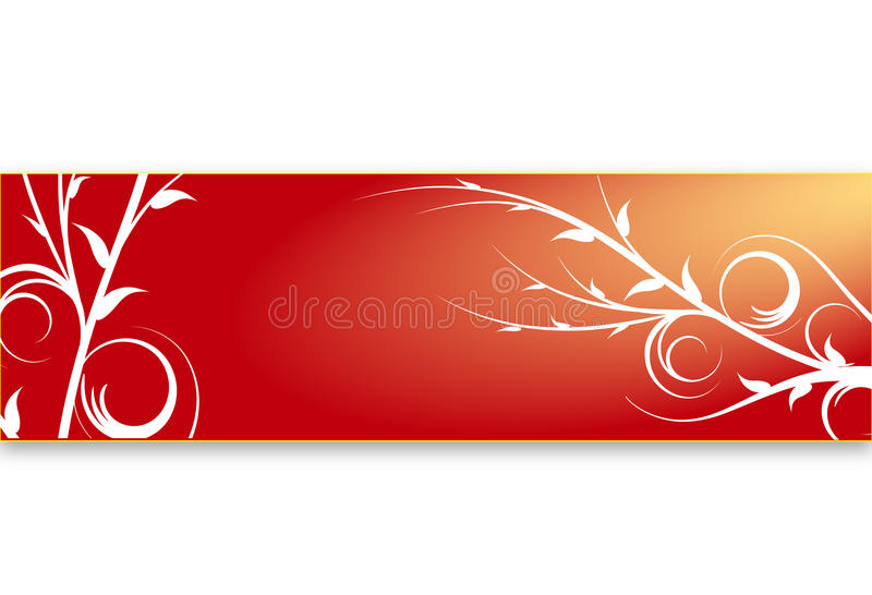 Download Red floral banner stock illustration. Illustration of wihite - 15697767