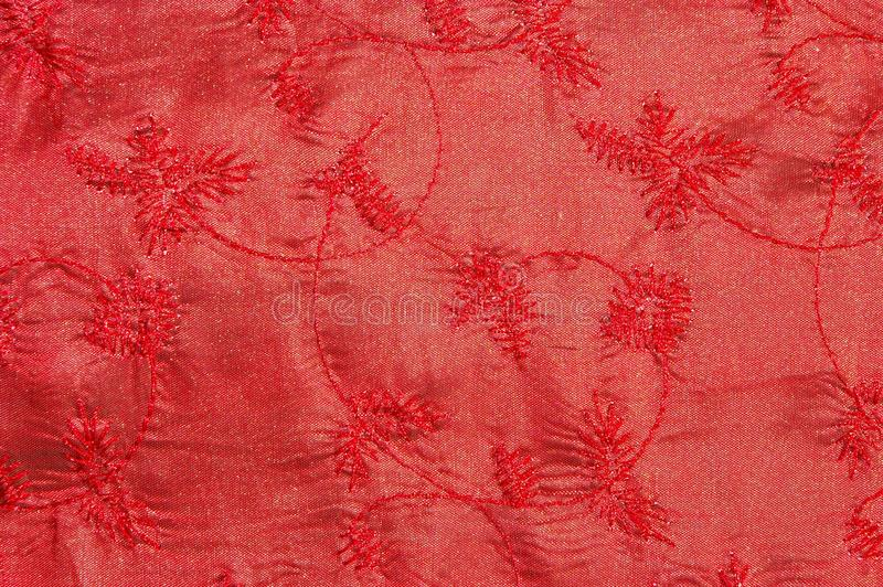 Red floral cloth royalty free stock images