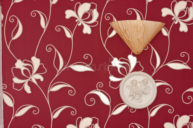 Red floral paper with seal