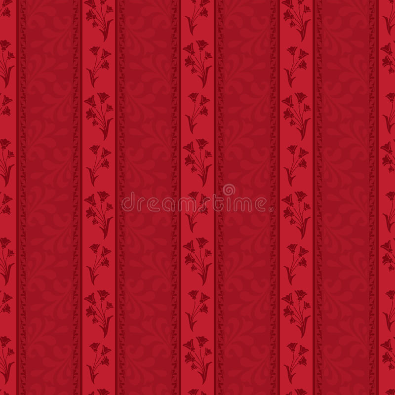 Download Red floral pattern stock vector. Image of seamless, flower - 30957625