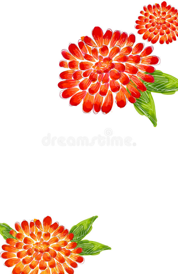 Download Red flower stock illustration. Image of creativity, blossom - 12260903