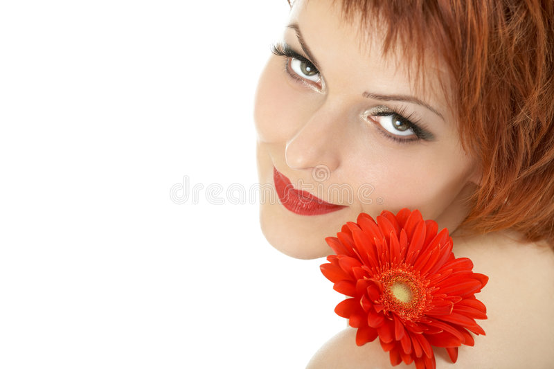 Red flower stock image