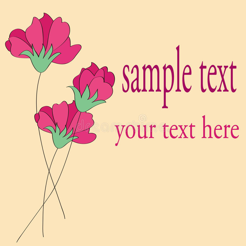 Red flower card pattern design