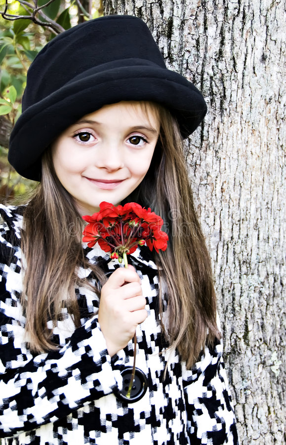 Free Red Flower Girl Stock Photography - 6927332