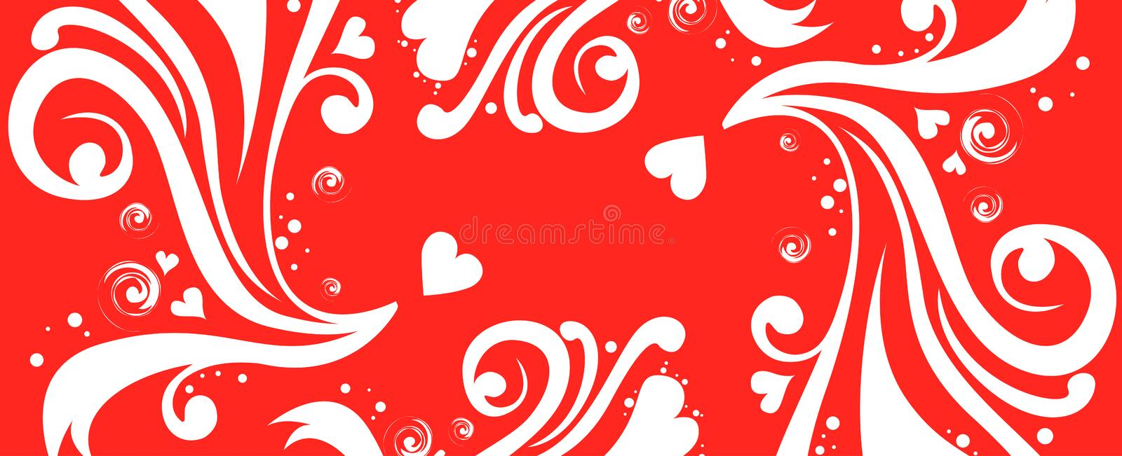 Download Red Flower And Heart Pattern Royalty Free Stock Photos - Image: 12545198