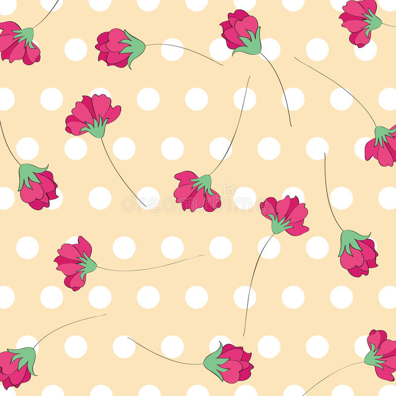 Download Red Flower Pattern Background Stock Vector - Image: 26144082