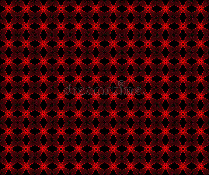 Red flower pattern seamless background stock photography
