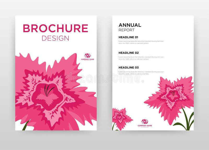 Red flower petal design for annual report, brochure, flyer, poster. Red floral petal on white background vector illustration for. Flyer, leaflet, poster stock illustration