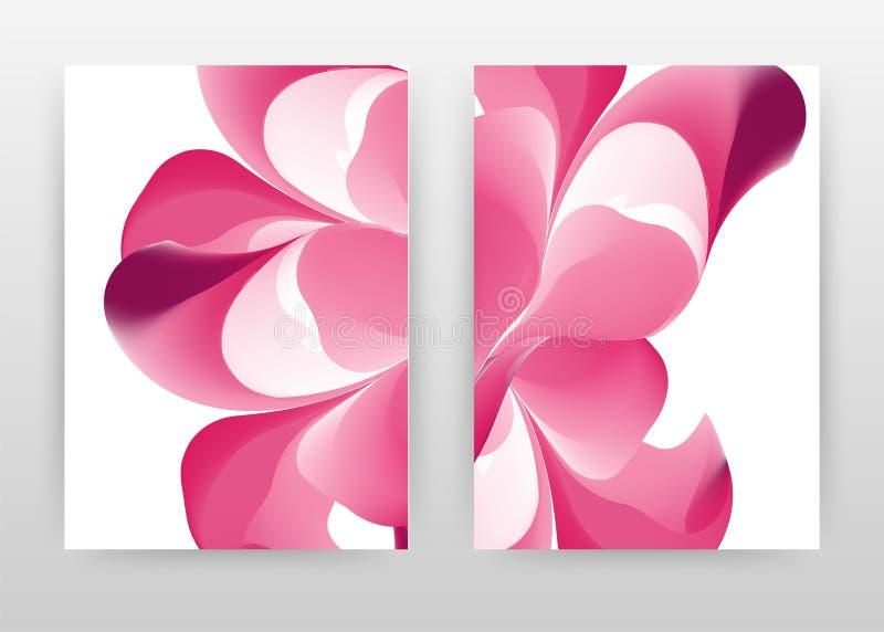 Red flower petal design of annual report, brochure, flyer, poster. Red flowers on white background vector illustration for flyer,. Leaflet, poster. Business vector illustration