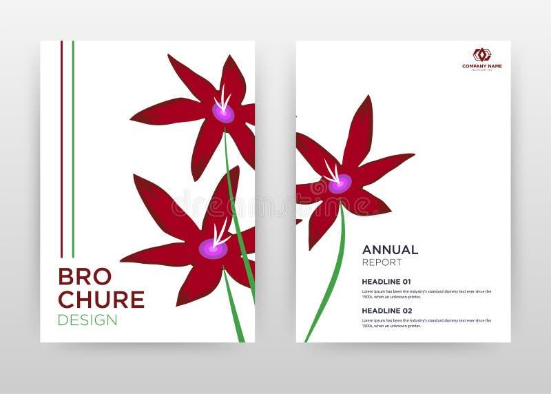 Red flower petal design for annual report, brochure, flyer, poster. Red flower on white background vector illustration for flyer,. Leaflet, poster. Business royalty free illustration