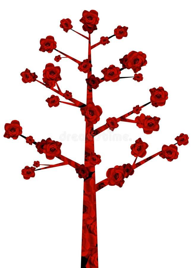 Red flower tree stock illustration
