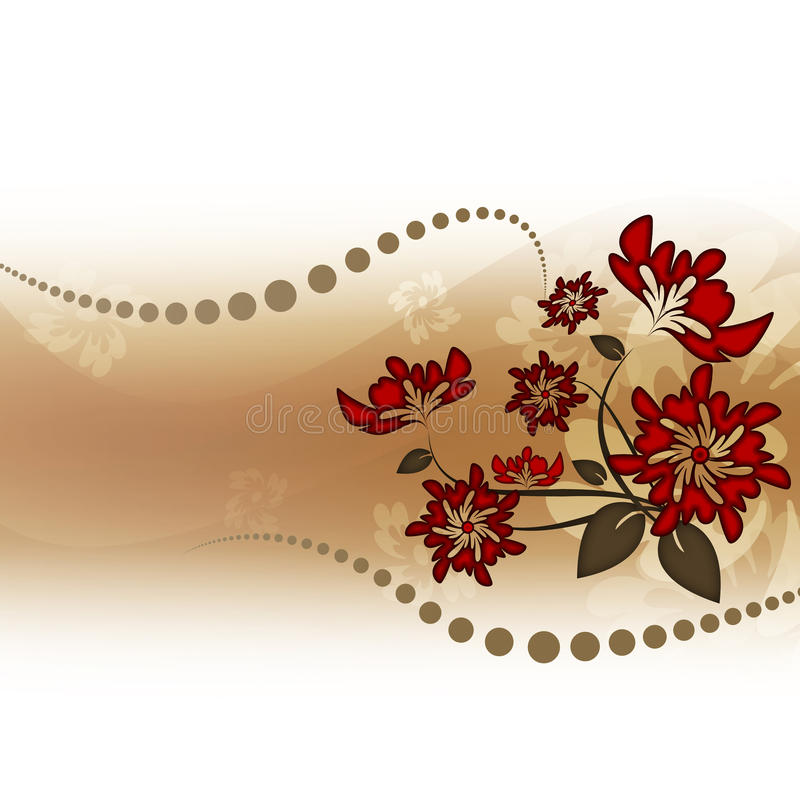 Download Red flowers stock illustration. Illustration of pattern - 10970889