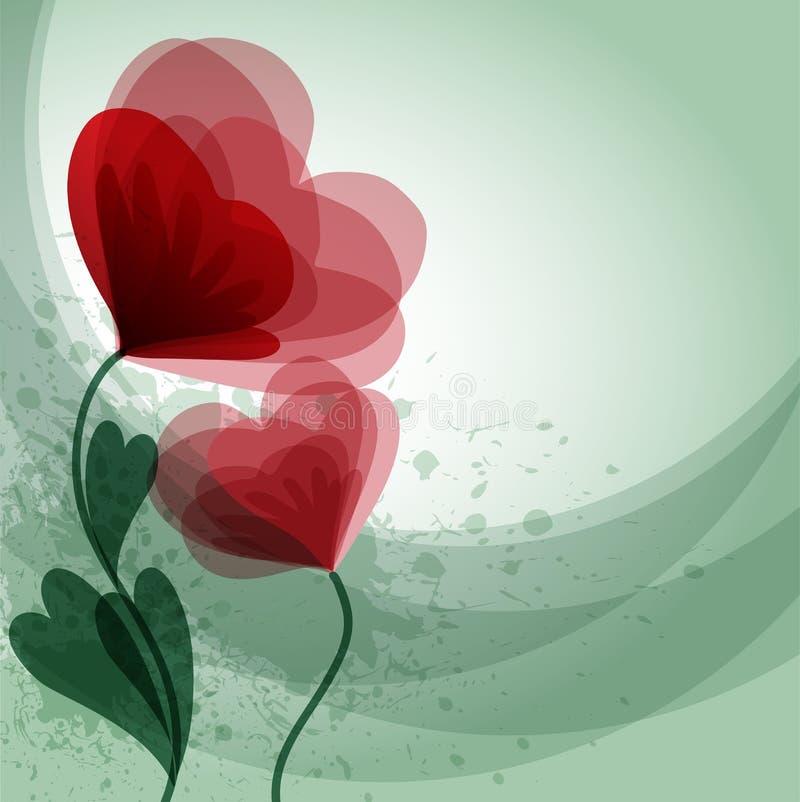 Red flowers stock illustration