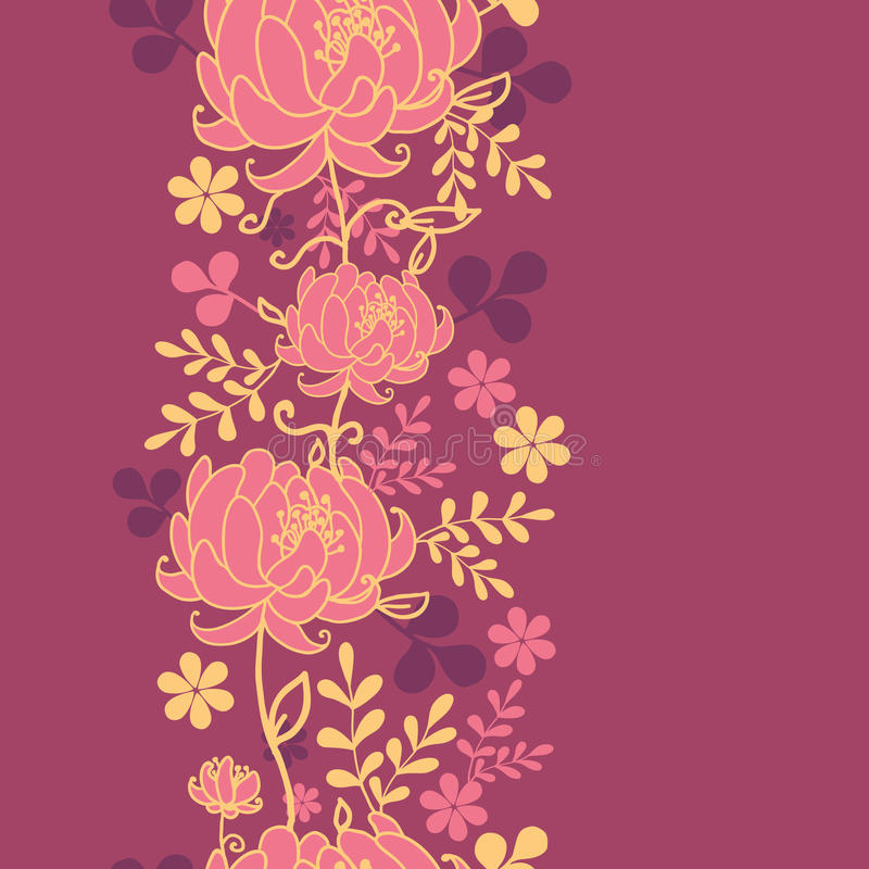 Download Red Flowers And Leaves Vertical Seamless Pattern Stock Vector - Image: 31419365