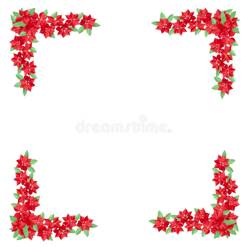 Red flowers made of paper used for decoration isolated on white stock images