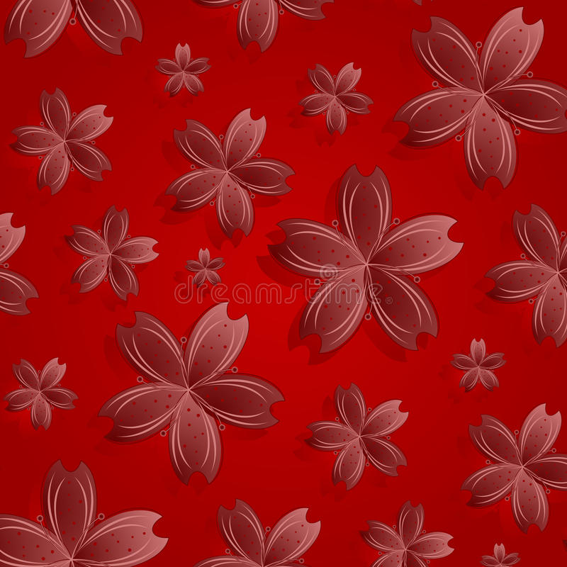 Download Red flowers pattern stock vector. Image of ornament, celebration - 22683258