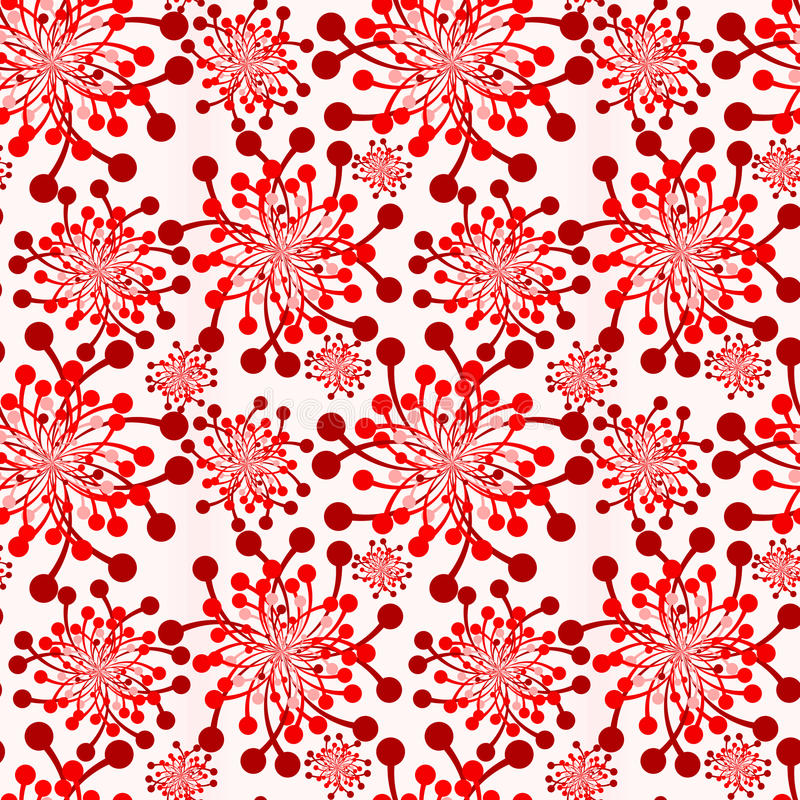 Download Red Flowers Vintage Wallpaper Seamless Texture Stock Image - Image of abstract, fire: 92465065