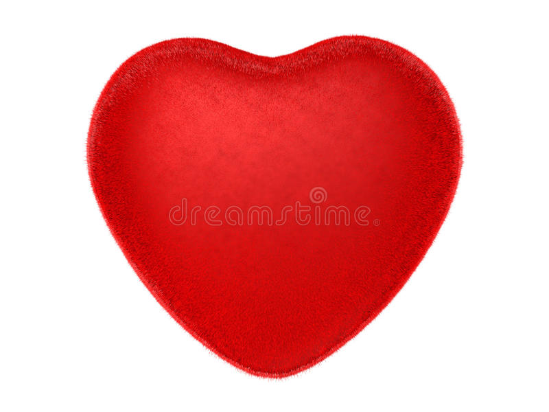 Download Red fluffy heart. stock illustration. Image of cute, valentine - 12867371