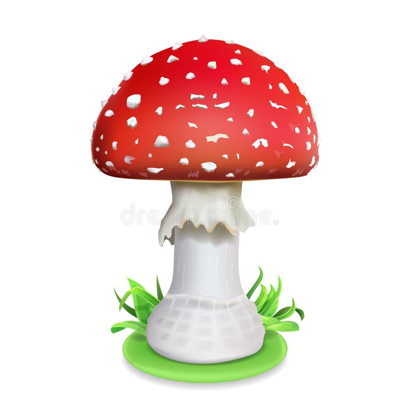 Free Red Fly Agaric Mushroom. Realistic Icon Illustration Stock Photos - 108822513