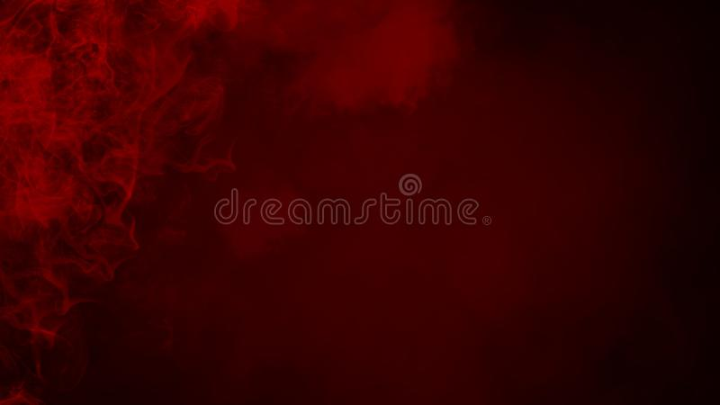 Red fog or smoke isolated special effect on the floor. Red cloudiness, mist or smog background. royalty free illustration