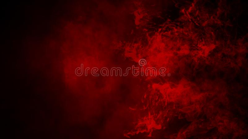 Red fog or smoke isolated special effect on the floor. Red cloudiness, mist or smog background. royalty free stock image