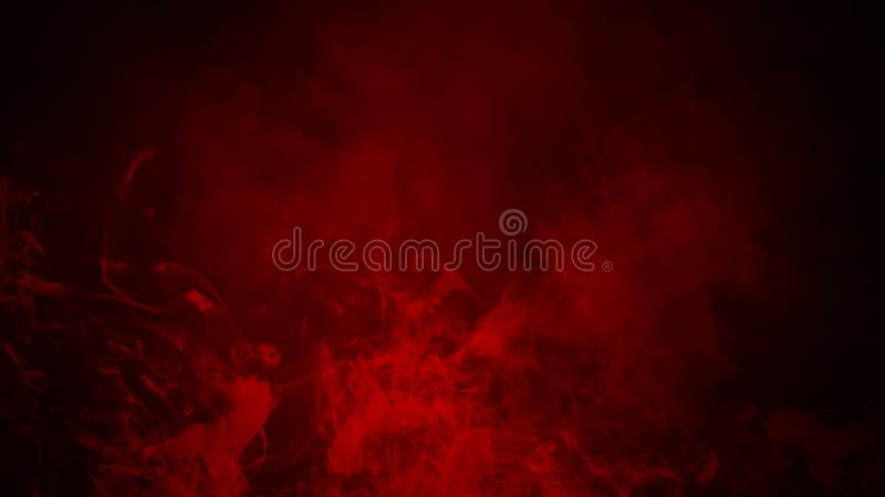 Red fog or smoke isolated special effect on the floor. Red cloudiness, mist or smog background. stock illustration