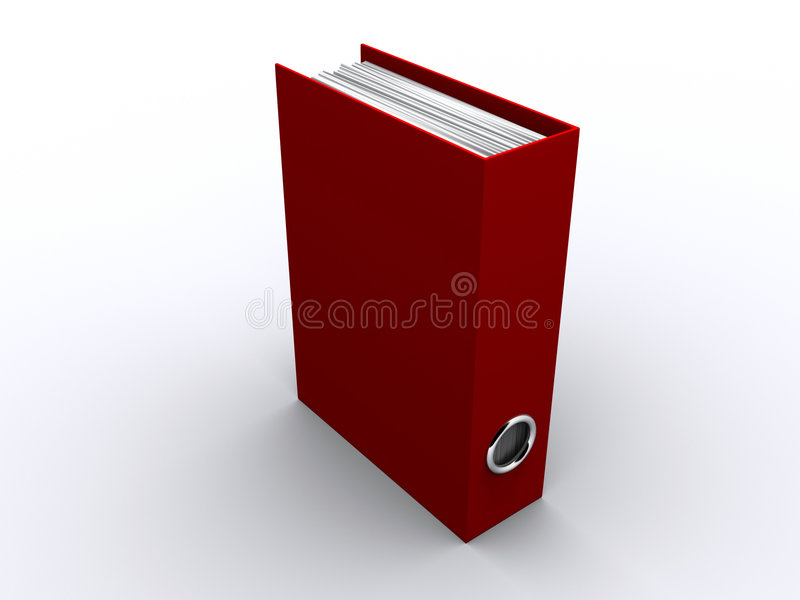Download Red folder stock illustration. Image of bills, desk, book - 6668454