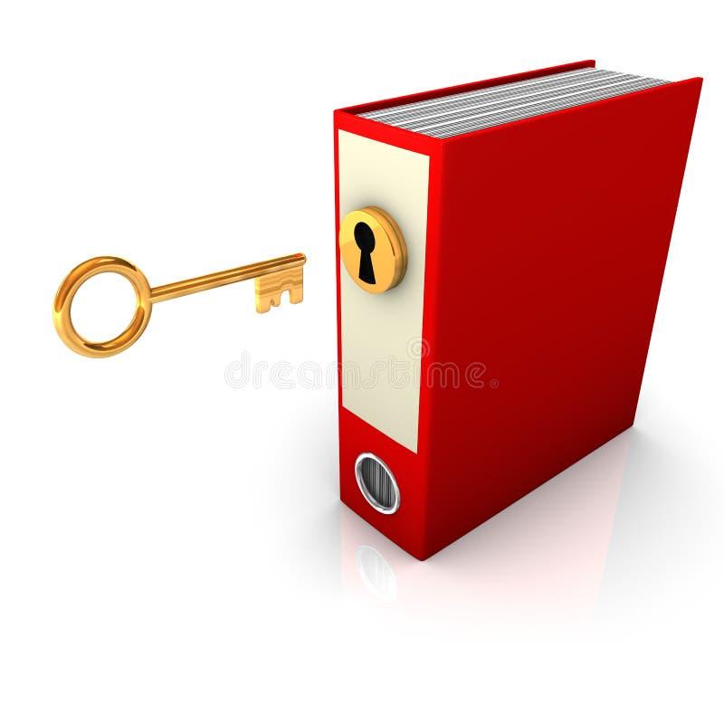 Red Folder Golden Key Stock Images